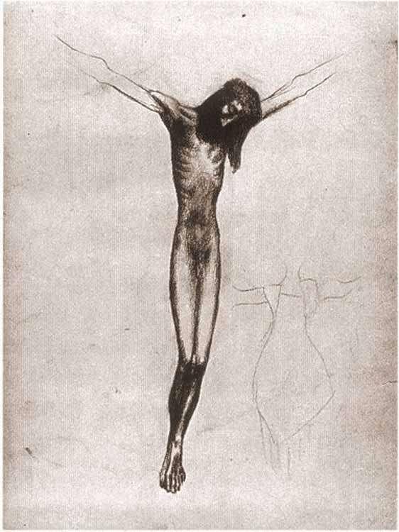 Picasso - Chrystus na krzyżu - 1902
