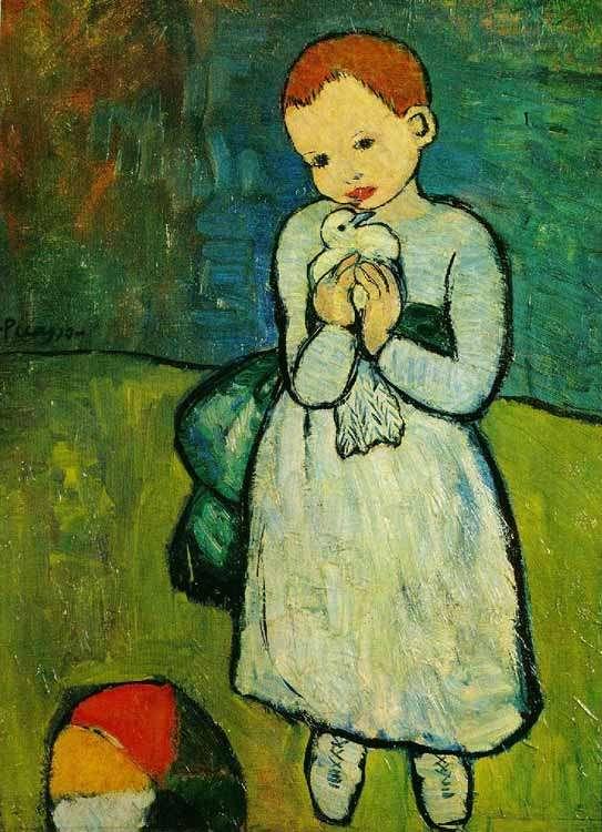 Picasso - Dziecko z gołębiem - 1901