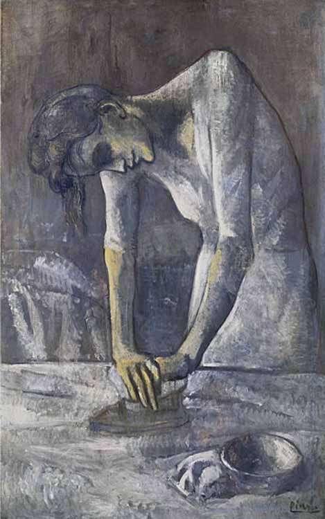 Picasso - Kobieta prasująca - 1904