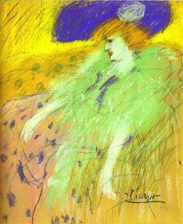 Pablo Picasso - Kobieta w kapeluszu - 1901