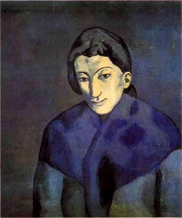 Picasso - Kobieta w szalu - 1902