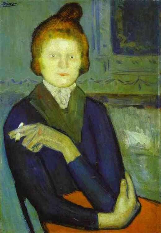 Obraz - Kobieta z papierosem - 1901