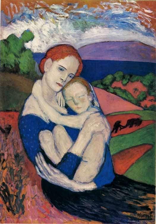 Obraz Picassa - Macierzyństwo - 1901