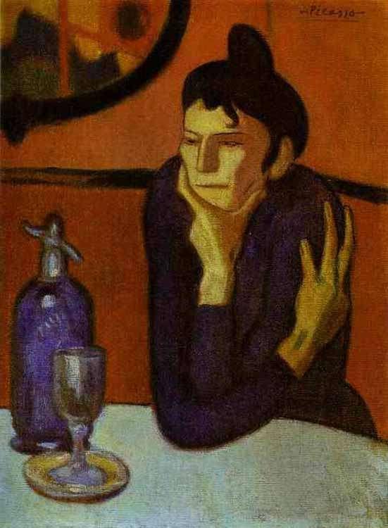 Obraz - Pijąca absynt-1 - 1901