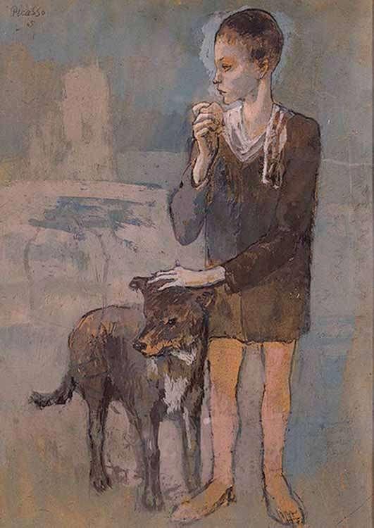 Obraz Picassa - Chłopiec z psem - 1905
