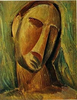 Obraz - Głowa kobiety - 1908