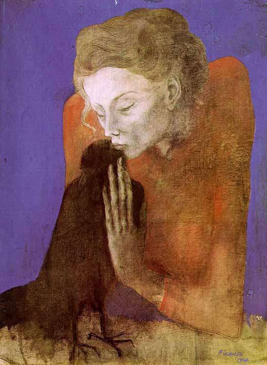 Obraz - Kobieta z krukiem - 1904