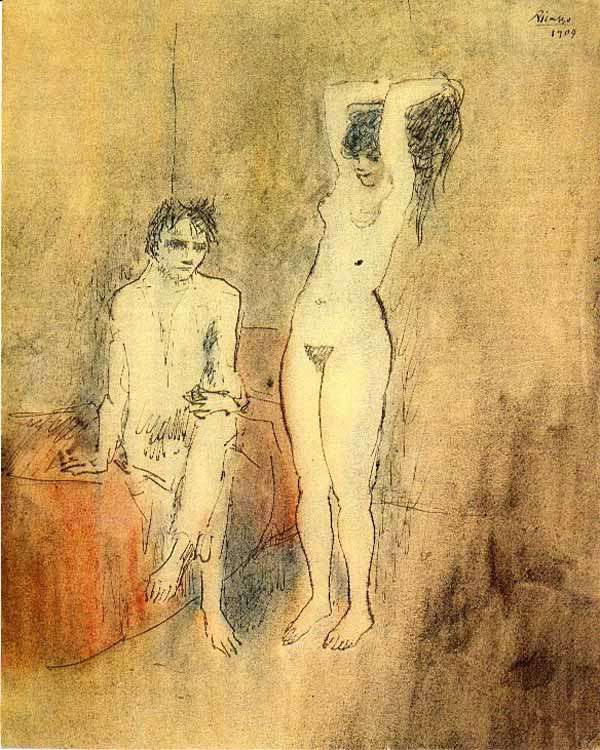 Obraz - Nagi mężczyzna i naga kobieta - 1904