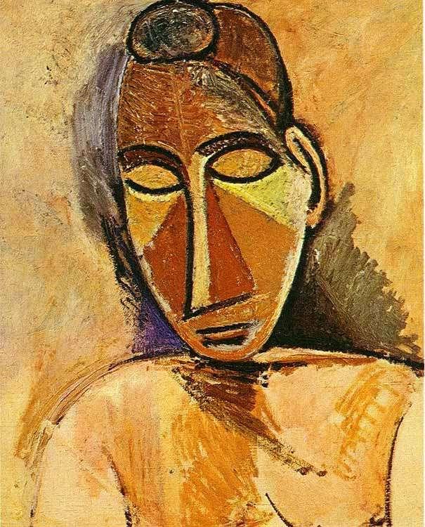 Obraz Picassa - Popiersie kobiety - 1907