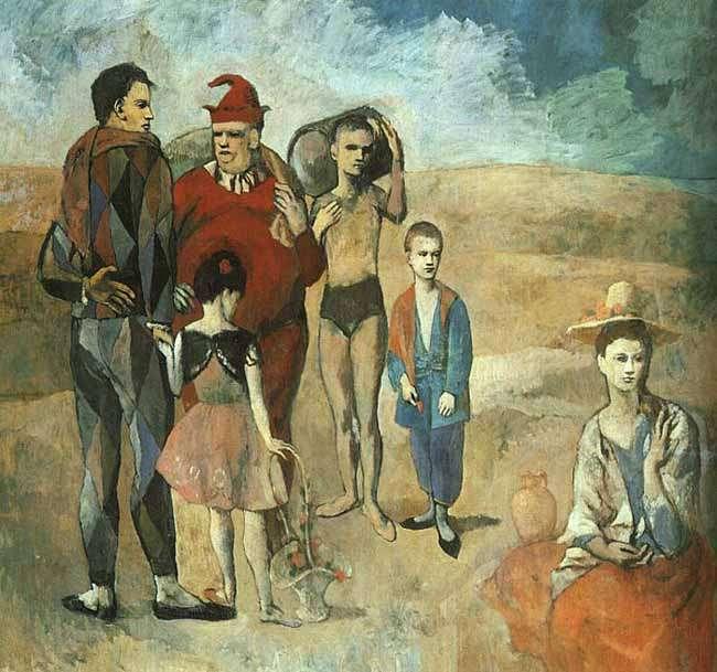 Rodzina akrobatów - 1905
