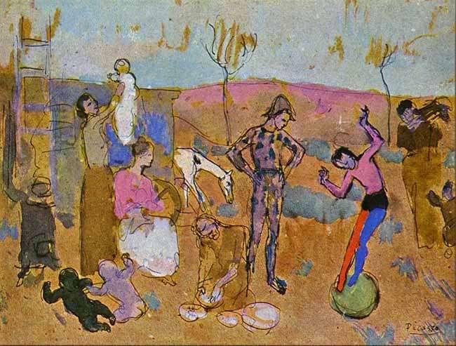 Rodzina akrobatów I - 1905