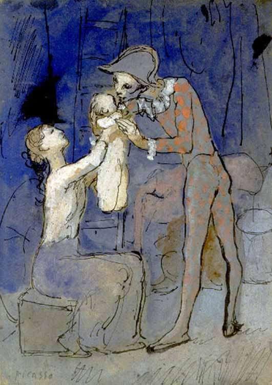 Obraz - Rodzina arlekina - 1905